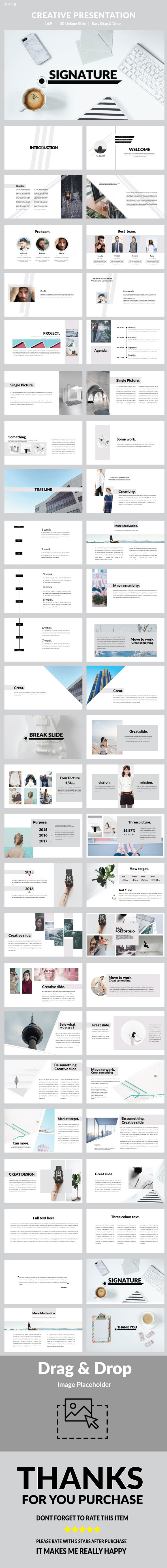 Signature - Multipurpose Powerpoint - PowerPoint Templates Presentation Templates