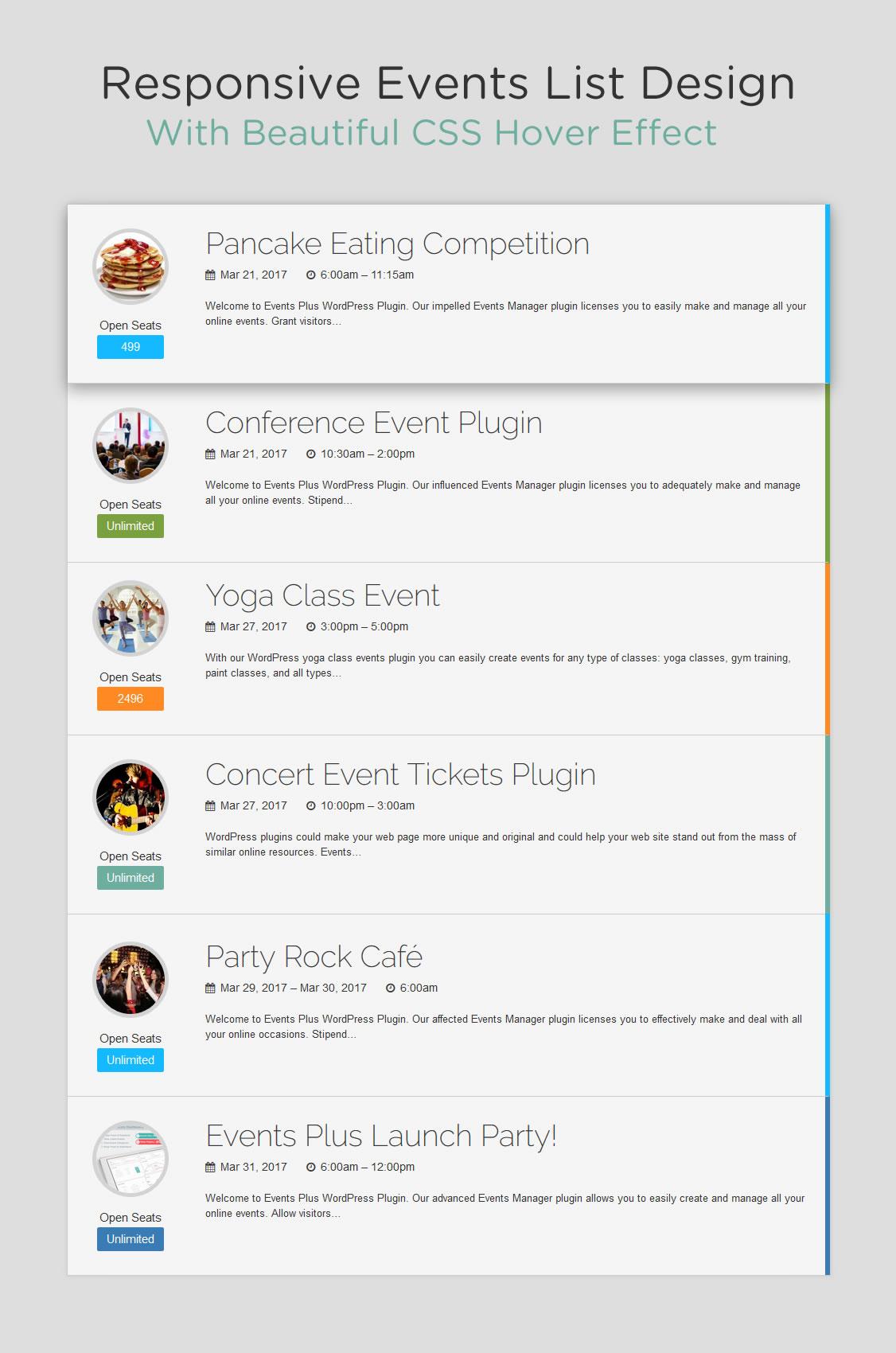 Event Calendar Js : Events calendar registration & booking by elbisnero codecanyon