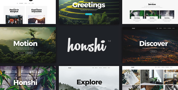 Honshi – One Page Multi Purpose Joomla! Template