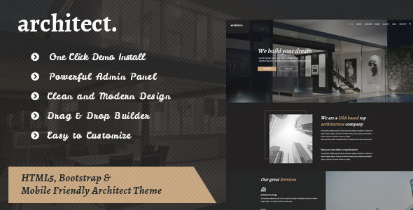 Architect – Bootstrap Template for Architecture