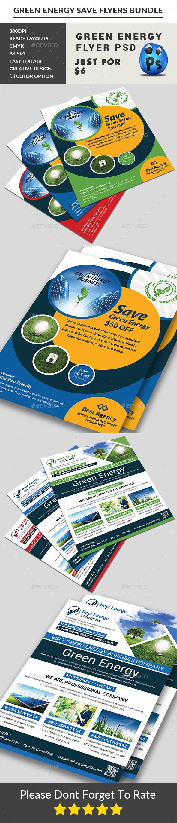 Green Energy Flyers Bundle - Corporate Flyers