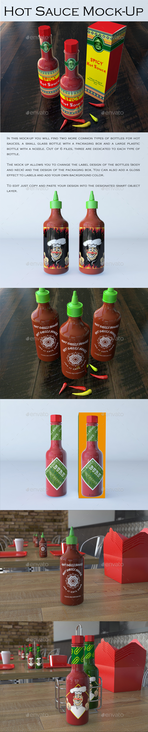 Hot Sauce Mock-Up - Food and Drink Packaging
