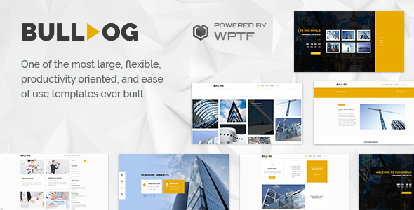 Bulldog - Construction - Architect - Building - Builder Multipurpose Template - Business Corporate