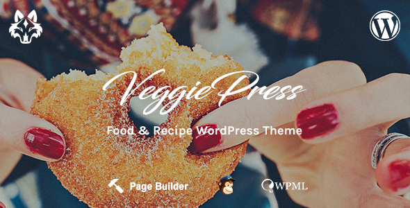 VeggiePress - Food and Recipe WordPress Theme