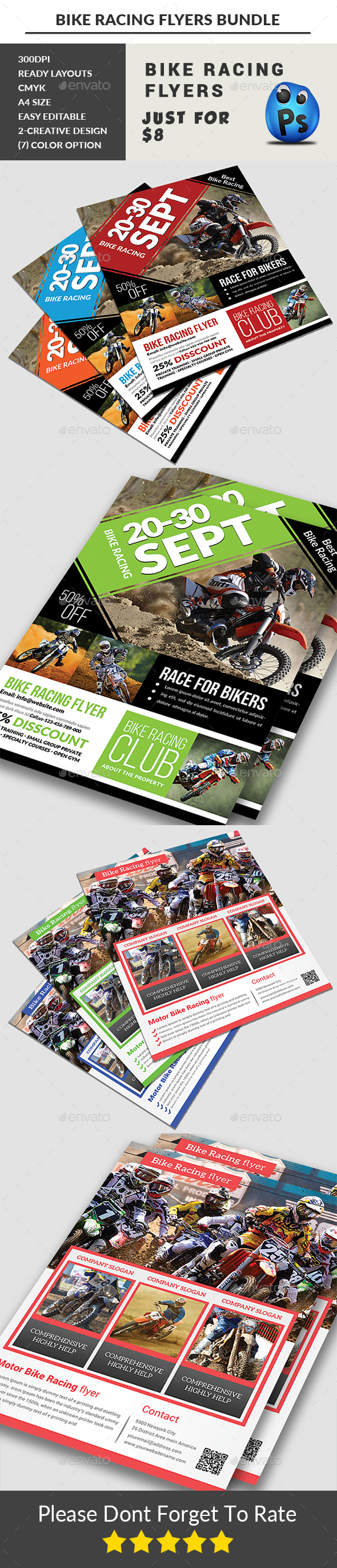 Bike Racing Flyers Bundle - Sports Events