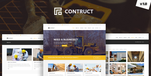 Structure – Construction, Building Business Template