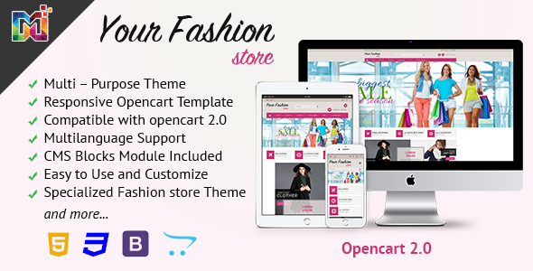 Image of Fashion Store Responsive - OpenCart Template