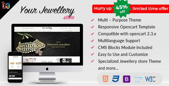 Responsive OpenCart Theme Template - Jewelry