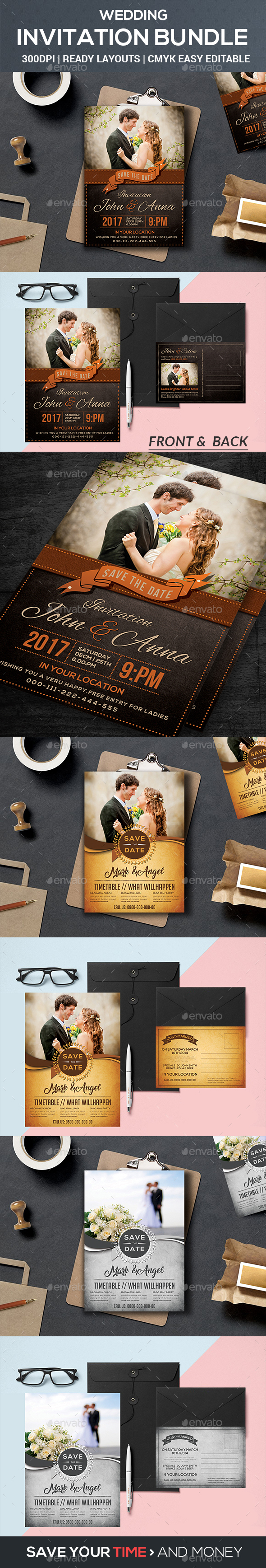 Wedding Invitation Bundle - Weddings Cards & Invites