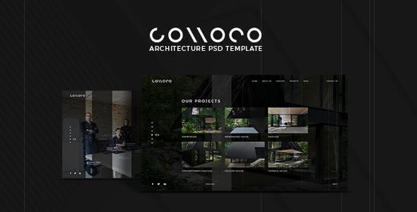 Connoco – Architecture PSD Template