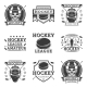 Hockey Set of Vector Vintage Logos - GraphicRiver Item for Sale
