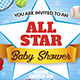 All Star Baby Shower Invitation Template - GraphicRiver Item for Sale