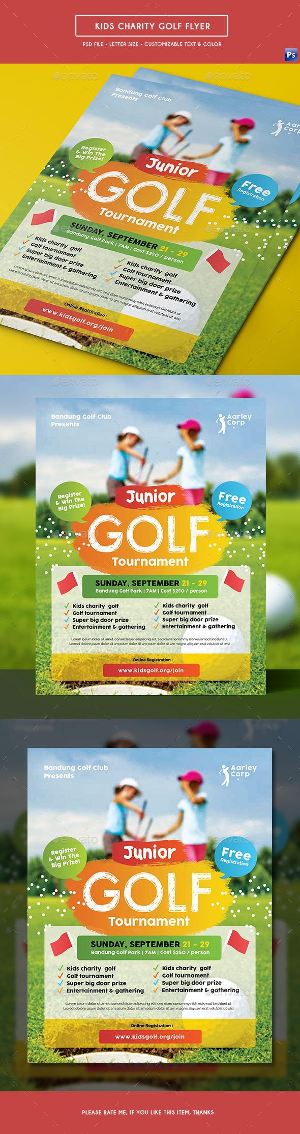 Kids Charity Golf Flyer - Sports Events
