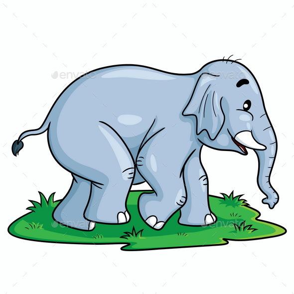 Elephant Cartoon - Animals Characters