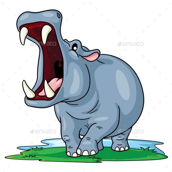 Hippo Cartoon - Animals Characters