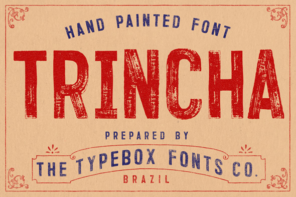 Trincha Typeface - Grunge Decorative