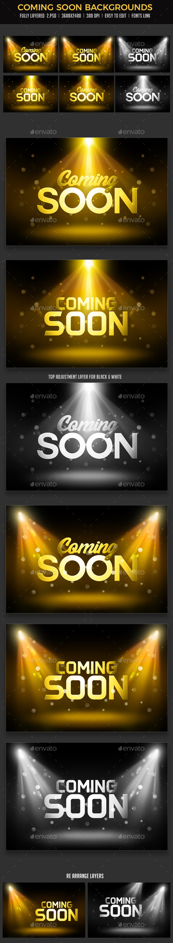Coming Soon Backgrounds - Miscellaneous Backgrounds