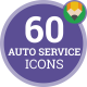 Car Service Icons - Flat Animated Icon Set - VideoHive Item for Sale