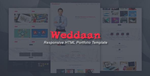 Weddaan - Responsive HTML Portfolio Template - Portfolio Creative