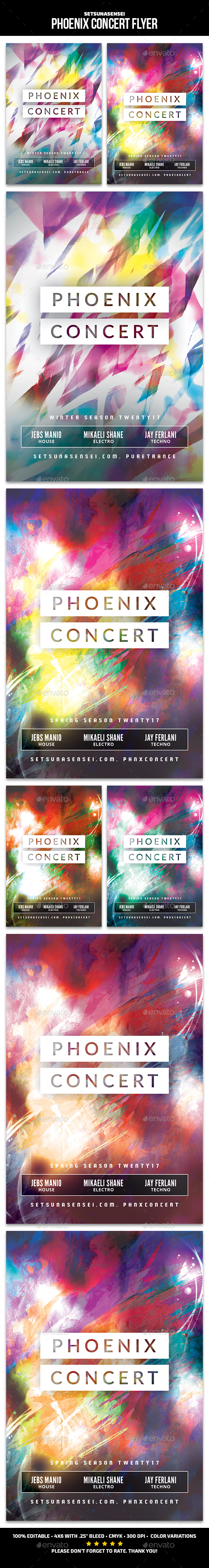 Phoenix Concert Flyer - Clubs & Parties Events