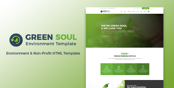 Image of Green Soul - Environment & Non-Profit HTML Template