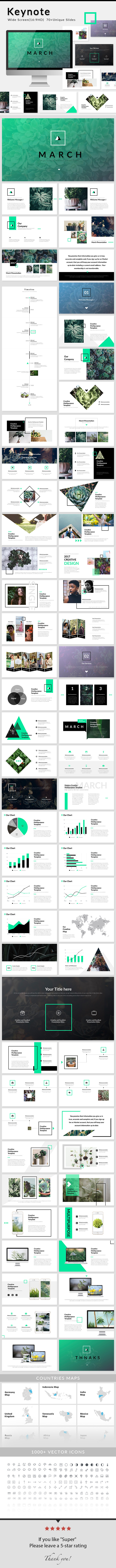 March - Keynote Presentation Template - Creative Keynote Templates