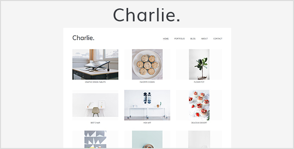 Charlie – Light Minimal Creative Portfolio Template