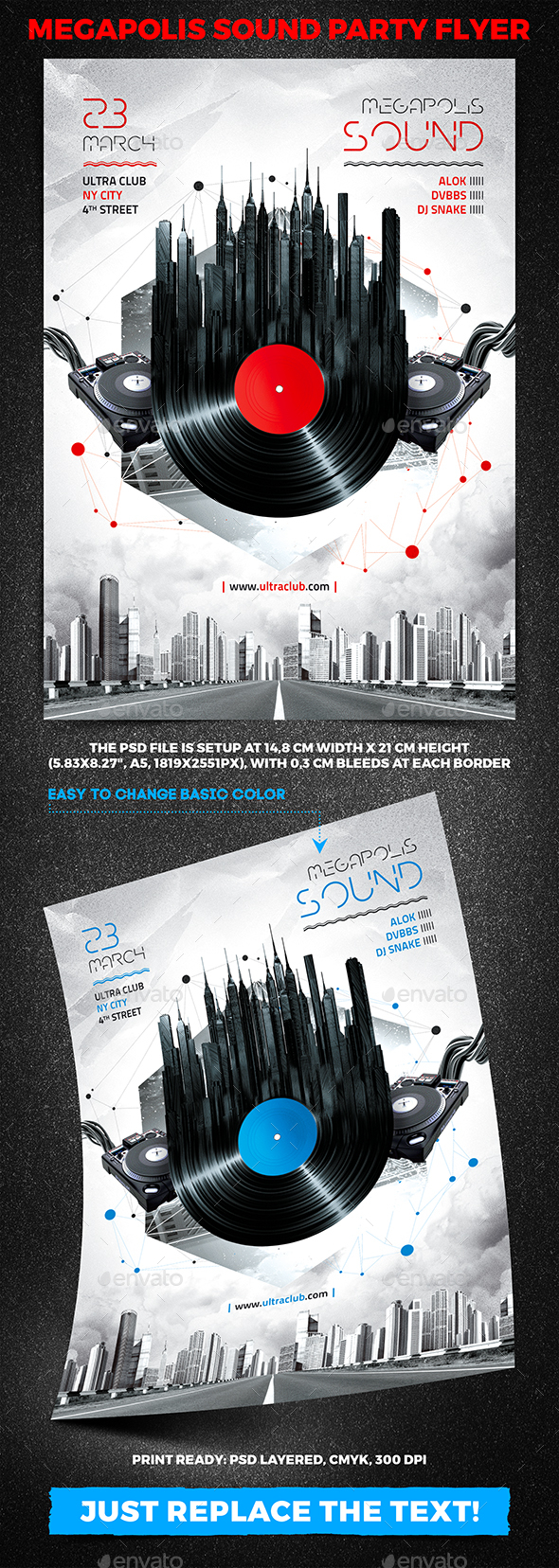 Megapolis Sound Party Flyer vol.2 - Clubs & Parties Events