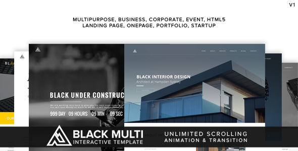 Black Multi Interactive Template