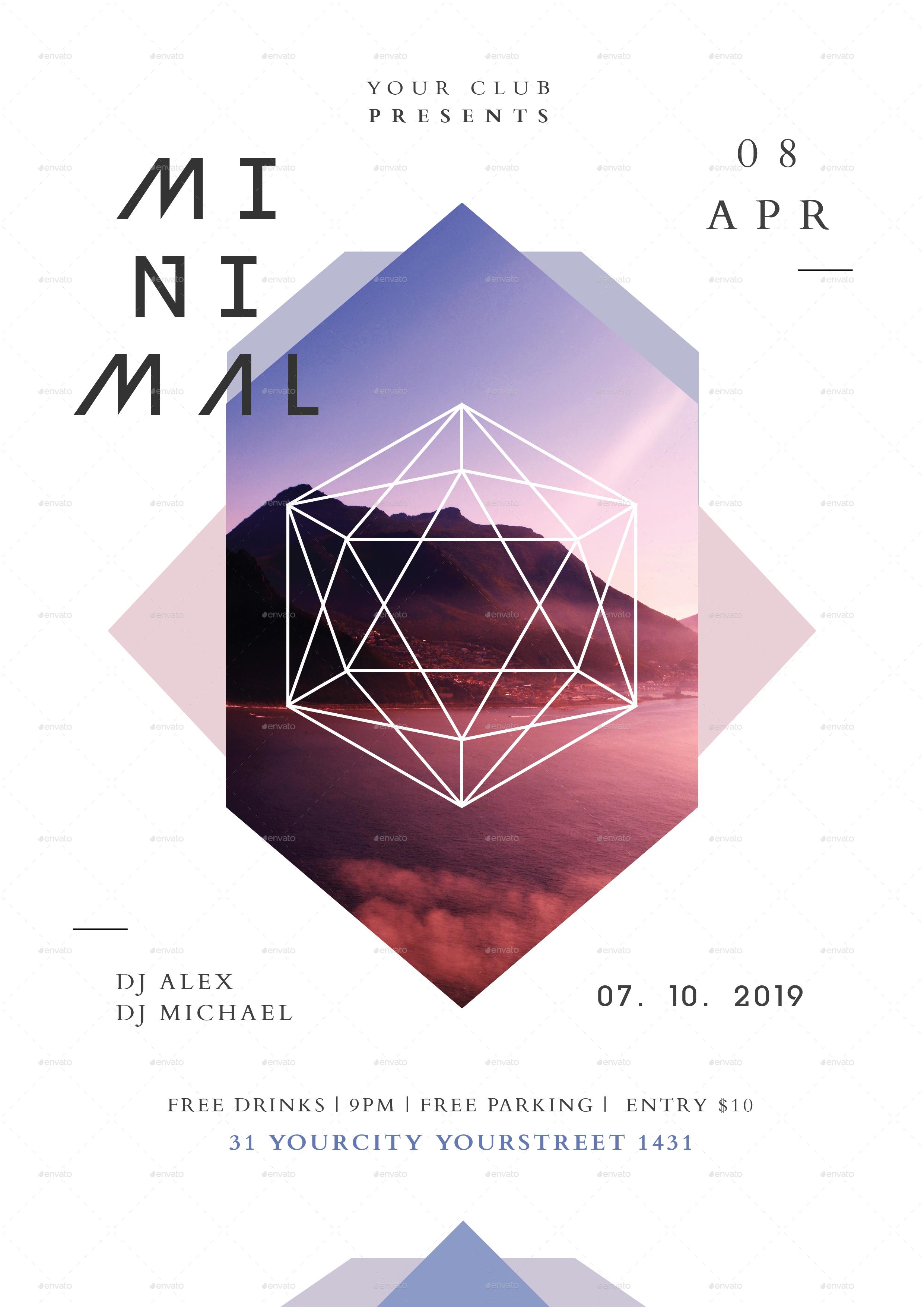 minimal flyer by infinite78910