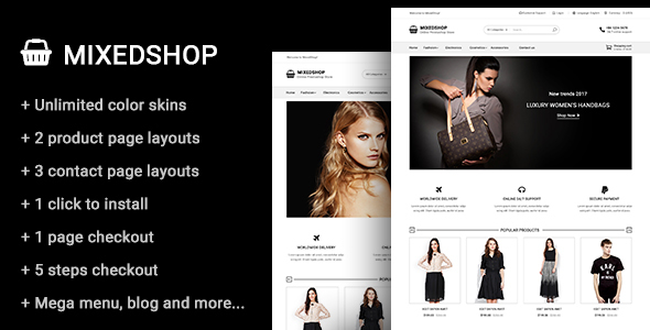Mixedshop – Multipurpose Prestashop Theme