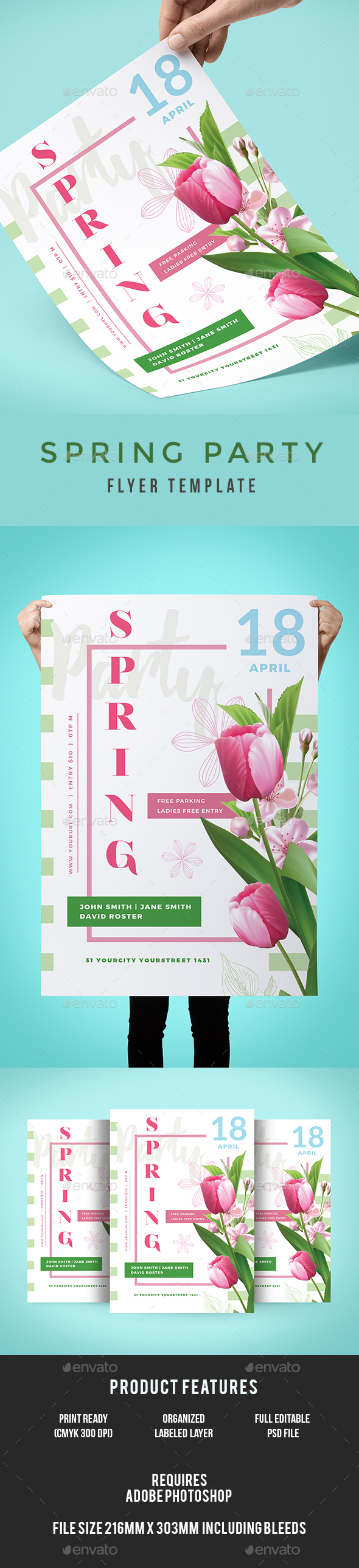 Spring Flyer - Clubs & Parties Events