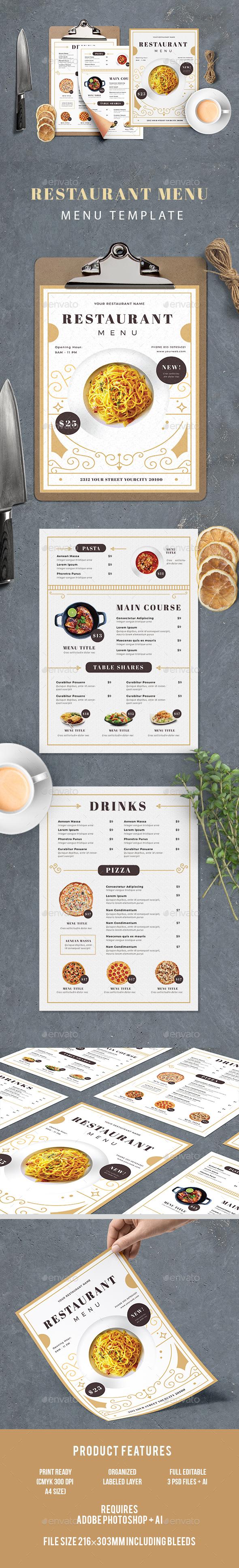Food Menu - Food Menus Print Templates
