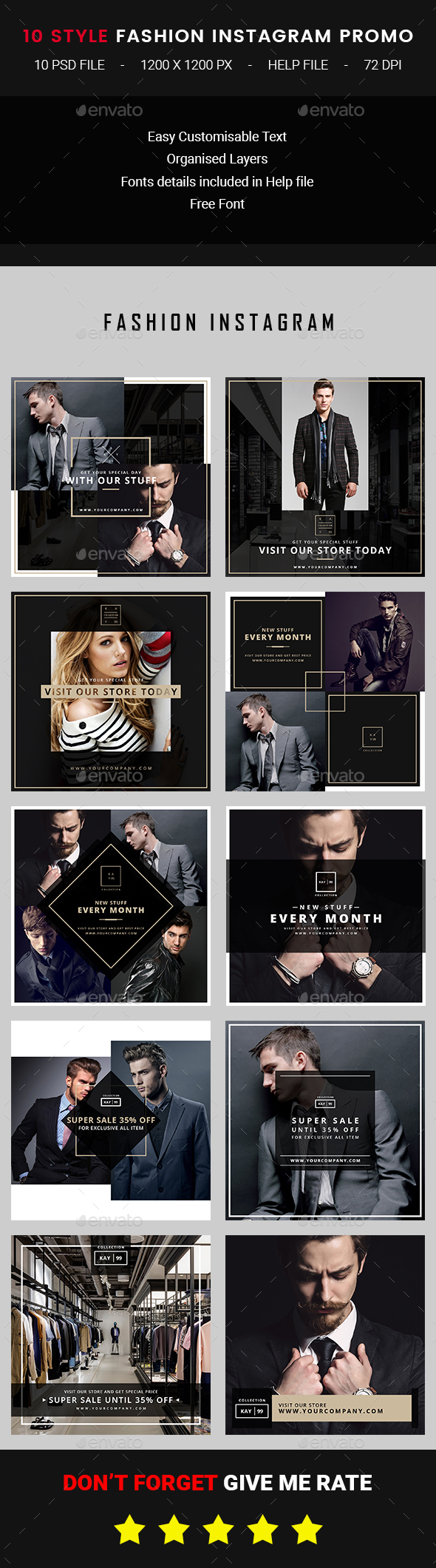 Instagram Fashion Promo - Banners & Ads Web Elements