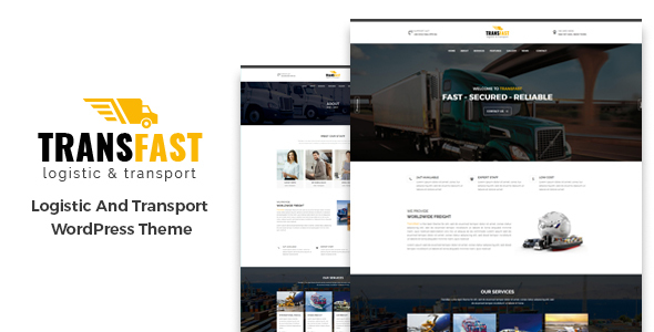 Image of Transfast - Logistic and Transport - WordPress Theme