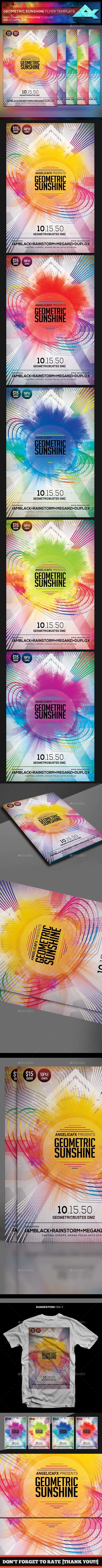 Geometric Sunshine Flyer/Poster Template - Events Flyers
