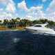 Palm island and Yacht - VideoHive Item for Sale