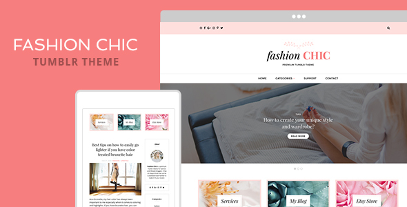 Fashion Chic Tumblr Theme