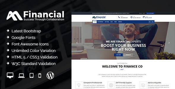Financial - Finance & Business WordPress Theme - Business Corporate