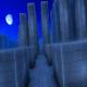 Brick Maze at Night