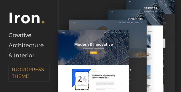 Iron - Architecture, Interior and Design WordPress Theme