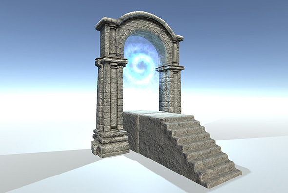 Stone Gate - 3DOcean Item for Sale