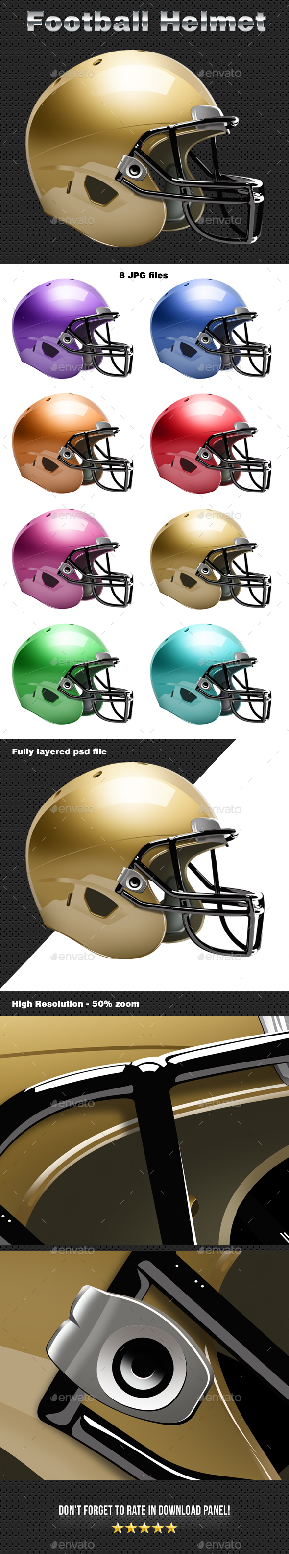 Football Helmet - Objects Illustrations
