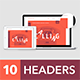 Headers Set for Web #1 - GraphicRiver Item for Sale