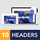 Headers Set for Web #2 - GraphicRiver Item for Sale