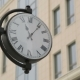 Clock on the Pillar - Building in Background - VideoHive Item for Sale