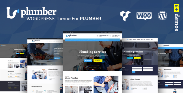 Plumber Pro - WordPress Plumber Theme - Corporate WordPress