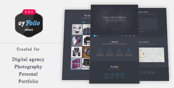 oyFolio - Responsive HTML Portfolio Template - Portfolio Creative