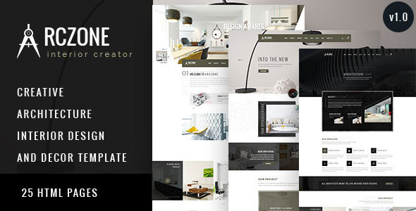 ARCZONE – Interior Design, Decor, Architecture HTML Template