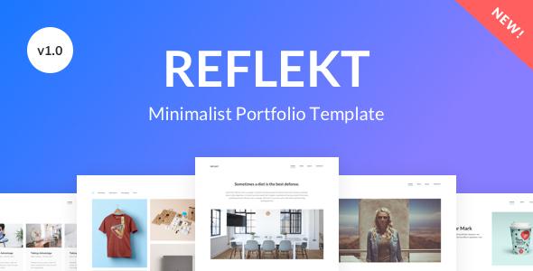Reflekt – Minimalist Portfolio Template